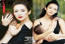 โชว์ครั้งแรก จาง ซิยี่ อุ้มลูกสาว 8 เดือน ถ่ายแบบ!