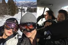 """""""อั้ม - แอมป์""""อินเลิฟ  เล่นสกีที่ญี่ปุ่น หวานจนหิมะละลาย!"""