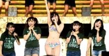 นางเอาจริง!  ซัซชี่   HKT48 นุ่งบิกินี่โชว์กลางเวทีคอนเสิร์ต