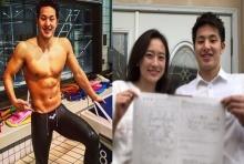 สายฟ้าแล่บ! นักว่ายน้ำสุดหล่อขวัญใจสาวๆ  จูงมือหวานใจวิวาห์แล้ว!