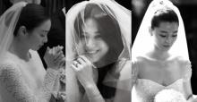 เทียบกันชัดๆ!! ภาพชุดเจ้าสาวในงานวิวาห์ของ 3 นางเอกดัง คิมแทฮี, ซงฮเยคโย, จอนจีฮยอน