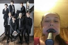 ขนหัวลุก ติ่ง BTS พิสูจน์รักแท้ ยัดค้อนใส่ปาก !!ใช้เวลาร่วมสิบนาทีงัดออก