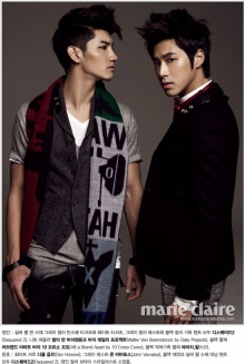 TVXQ on Marie Claire