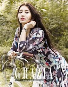 """ซูจี(Miss A) กับลุคสาวผู้สง่างามในนิตยสาร """"GRAZIA"""""""