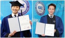 จางกึนซอก (Jang Geun Suk) จองอิลอู (Jung Il Woo) ร่วมพิธีจบการศึกษา ม.ฮันยาง