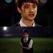 """เผยภาพ ดีโอ แห่ง EXO ได้รับบาดเจ็บ ในตอนล่าสุดของละคร Its Alright, That""""s Love"""