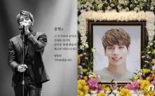 """ภาพสุดเศร้า..สมาชิกวง SHINee ร่วมเป็นเจ้าภาพงานศพ """"จงฮยอน"""" พร้อมเปิดให้แฟนคลับร่วมเคารพศพ"""