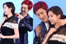 ว๊ายตายแล้ว!! ซอฮยอน และ ชานยอล EXO ถูกจับภาพได้ในขณะที่มีโมเม้นท์หวานๆ(คลิป)