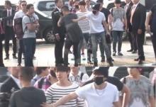 อึนฮยอก SJ  ปกป้องนักข่าวไม่ให้หงายหลังตกฟุตบาท