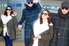 เรน-คิมแทฮีกลับเกาหลีแล้ว จูงมือ-โอบเมียรักออกสื่อ ดูมีแววได้น้องบาหลี(มีคลิป)