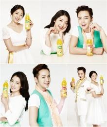 """จาง กึน ซอก"""" กับ """"ปาร์ค ชิน เฮ"""" พบกันอีกครั้งในงานโฆษณา"""