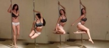 สาวกิมจิคนนี้ 'โชว์' หุ่นสุดเอ็กซ์ ในระหว่างเต้น 'pole dance'