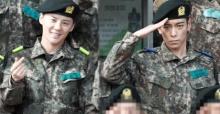 สื่อเผยภาพแรกของท็อป (T.O.P) และจุนซู (Junsu) ในกรมทหารออกมาให้ชมกันแล้ว