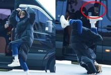 ตามดีนัก!! ซูโฮ ทำนักข่าวอ้าปากค้างด้วยการตีลังกาโชว์ซะเลย!!(คลิป)