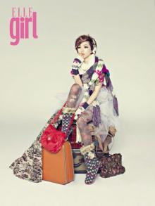 กาอิน (Ga-In)  Brown Eyed Girls  บนปก ELLE แบบหวาน ๆ