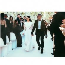 คิม-คานยี แชร์รูปงานแต่งบนอินสตาแกรม คนกดไลค์นับล้าน