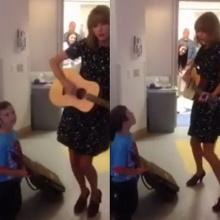 เทเลอร์ สวิฟท์ เล่นกีต้าร์ ร้องเพลง เป็นกำลังใจให้กับหนูน้อย ป่วย ลูคีเมีย