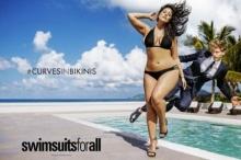Ashley Graham นางแบบหุ่นอวบ กับชุดว่ายน้ำ สวยลื้ม