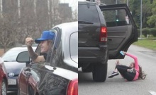 บีเบอร์ อึ้ง! แฟนคลับกระโดดออกจากรถ เพื่อมาเจอ!