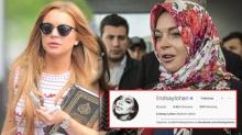 """ชาวมุสลิมต้อนรับ""""ลินด์เซย์ โลฮาน""""นับถืออิสลาม"""