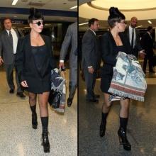 Lady Gaga กับชุดธรรมด๊า ธรรมดา ลงเครื่องที่สนามบิน LAX