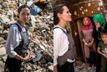 นางฟ้าเดินดิน แองเจลีนา โจลี โผล่เยี่ยมชาวอิรักในเมืองโมซุล(คลิป)