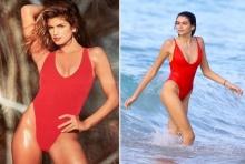 ลูกซินดี ครอว์ฟอร์ด เป็นนางแบบวัยใส ใส่ชุดว่ายน้ำสีแดงเพลิง!!