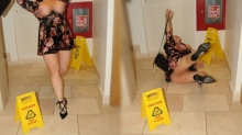 ดาราสาว ลื่นล้มกลางโรงแรม ปาปารัสซี่มือไวแชะภาพ เต้าหกกระจาย!