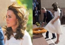 ลมมันแรง!! กระโปรงเจ้าหญิงเคท ปลิวฟูฟ่องเกิดเป็นภาพน่าประทับใจ