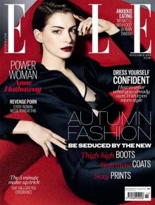 สวย ดุ กับแฟชั่นของ แอน แฮทธาเวย์ บนปก ELLE Magazine