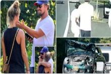 สุดหล่อลีโอนาร์โด จูงมือ แฟนนางแบบขับรถเล่นดันเจอชนท้ายจังๆ!