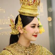 นุ่น วรนุช งดงาม ดุจ นางในวรรณคดี ในชุดไทยโชว์รำถวายพระพร