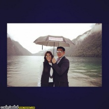 พิ้งกี้ สาวิกา - เพชร อิทธิ ร่อนการ์ดแต่งงาน สวยหวานเรียบง่ายในโทนชมพู