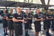 เปิดภาพ 3 หนุ่ม ชินวุฒิ-ชาโน-กวิน ภารกิจทหารใหม่ ฝึกท่าเบื้องต้น!!