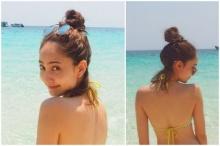 เมื่อสาวลุคเรียบร้อยแต้ว ณฐพร โชว์เซ็กซี่ในบิกินี่ริมหาด!