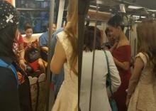 ฮือฮา!ทั้งBTS 'ปุ๊กลุก'นุ่งราตรีสีแดง!ขึ้นรถไฟฟ้า