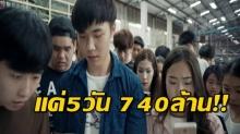 ไม่น่าเชื่อ!! หนังไทยเรื่องนี้และเรื่องเดียว ดังมากที่จีน ฉายแค่ 5 วันกวาดไปแล้ว 740 ล้าน!