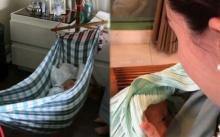 เป็นระดับ สะใภ้พันล้าน แต่ดาราสาวคนนี้ ยังใช้ เปลผ้าขาวม้า ตั้งกลางบ้านหรู กล่อมลูกนอน!
