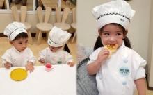 """มาดูกิจกรรมเรียนทำขนมของ """"อลิน-อลัน"""" จะกินได้ไหมเนี่ยลู๊กกกก!!? (มีคลิป)"""