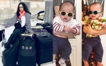 """""""ชมพู่"""" ขนกระเป๋า 11 ใบ อุ้มลูกแฝดร่วมแฟชั่นวีกปารีส!!"""