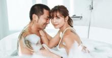 """ช็อตนี้ฟินสุดๆ!! """"อุ้ม ลักขณา"""" โพสต์ภาพสวีทสามี """"บอล กฤษณะ"""" ในอ่างอาบน้ำ"""