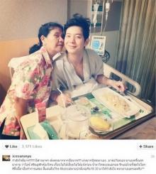 ไอซ์ ศรัณยู ป่วยเข้าโรงพยาบาล  อัพ IG ซึ้งแม่บุกเดี่ยวดูแลลูก