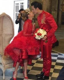 สุดชื่นมื่น!! บี้ - กุ๊บกิ๊บ เข้าพิธีแต่งงานแบบจีนจัดเต็มกับชุดแดง