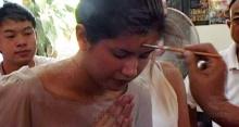 ภาพปูควงลิเดียทำบุญล้างซวยข่าวท้องก่อนแต่ง