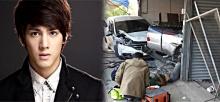 """""""เม้าส์"""" B.O.Y. ซิ่งรถเสียหลักชนร้านมุ้งลวดเจ็บ 2 ราย"""