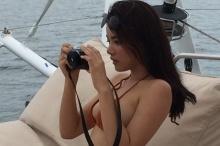 ภาพฟ้อง !! 'วาววา'แอบแซ่บ!  ริมทะเล