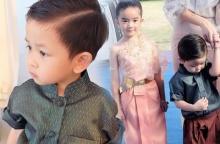 น่ารักจริงๆ ! น้องโปรด เจอ พี่ณดา ในชุดไทย ออกอาการเขินเลยครับ