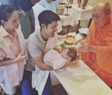 น้องริชา อายุครบ 1 เดือนแล้ว พ่อภูริ - แม่แอน พาทำพิธีรับขวัญ