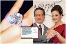"""แบบนี้ก็ได้หรอ? """"ตั๊ก บงกช"""" บอกเจอแล้ว แหวนเพชรแต่งงาน 12 ล้านที่หายไป"""