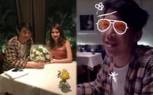"""ว่าที่เจ้าบ่าวเจ้าสาว!!! """"มาร์กี้-ป๊อก"""" ดินเนอร์หรู ในวันครบรอบคบกัน 3 ปี"""